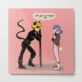cat got your tongue Metal Print