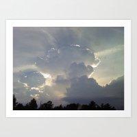 Fluffy Clouds 2 Art Print