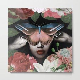 Butterfly woman #society6 #Art Print Metal Print