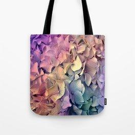 Soft Multi Color Hydrangea Tote Bag