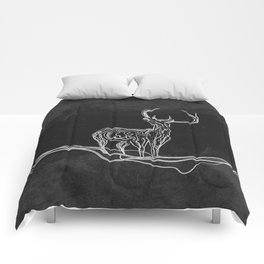 Mountain (Closer Than You Know) Black & White Comforters