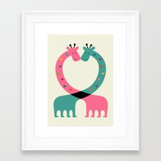 Love With Heart Framed Art Print