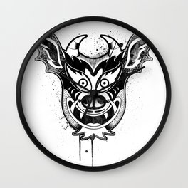 Yare Devil mask #1 Wall Clock