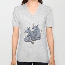 Endangered Love - Rhino Sutra Unisex V-Neck