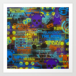 Uplifting Collage (fluo) Art Print