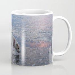 Fetching rocks under the Sea Coffee Mug