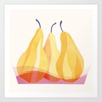 Baked Pears | 100 Days of Cookbook Spots Art Print