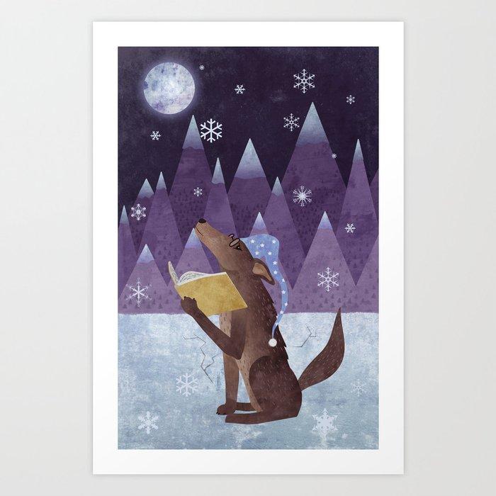 A Dog's Dream Art Print