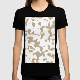 Large Spots - White and Khaki Brown T-shirt