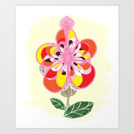 These Bloomed When We First Kissed Art Print