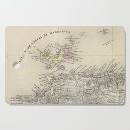 Vintage Map of Margarita Province (1850) Cutting Board