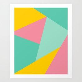 Bight Abstract Geometric Pattern Art Print