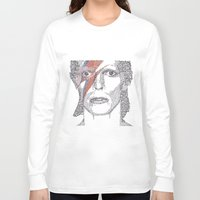 bowie Long Sleeve T-shirts featuring Bowie by S. L. Fina