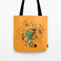 garfield Tote Bags featuring Mer'MEAL by Anwar Rafiee