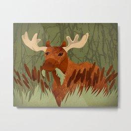 Moose Munch Metal Print