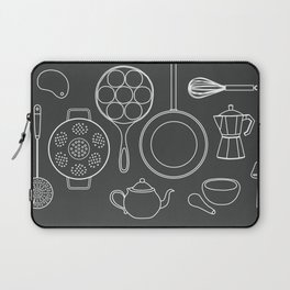 kitchen tools (white on black) Laptop Sleeve