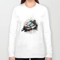 sneaker Long Sleeve T-shirts featuring Sneaker by Nicu Balan
