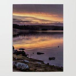 The Derwent Reservoir at sunset Poster