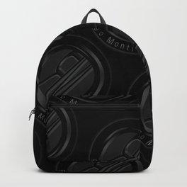 Riggo Monti Design #3 - Riggo Emblem Diagonal Pattern (Blk. Bkgrnd.) Backpack