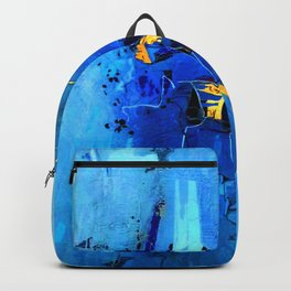 Blue, Black and White Backpack