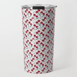 Red Cherry Pattern Travel Mug