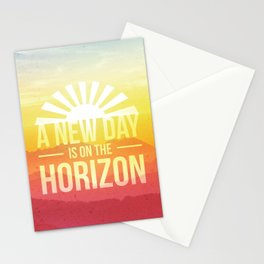 A New Day is on the Horizon Stationery Cards