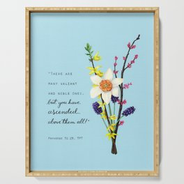 Proverbs 31 Spring Bouquet Serving Tray