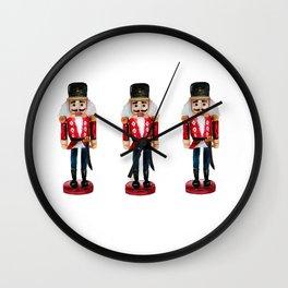 Watercolor Nutcracker trio Wall Clock