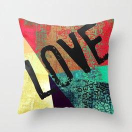 New Love it Valentines LOVE Throw Pillow