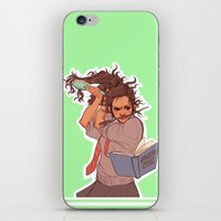 hermione iPhone & iPod Skins featuring Hermione (green) by batcii
