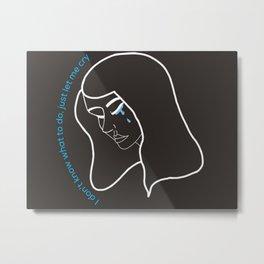 Crying Metal Print
