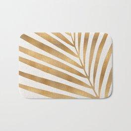 Metallic Gold Palm Leaf Bath Mat