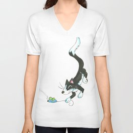 Cat and Mouse Unisex V-Neck