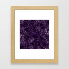 Purple Garden Framed Art Print
