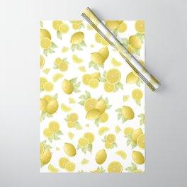 Summer Lemon Twist #1 #tropical #fruit #decor #art #society6 Wrapping Paper
