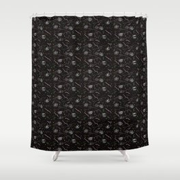 Speech Signals by Chrissy Curtin Shower Curtain