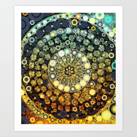 :: Kitchen Dance ::  (...and those who were seen dancing, were thought to be insane)  Art Print