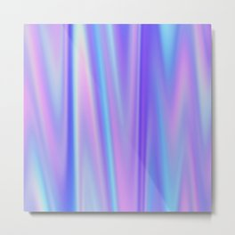 Iridescent Holographic Abstract Colorful Pattern Metal Print