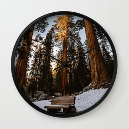 Giant Forest Bench Wall Clock