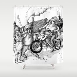 Kid Icarus Shower Curtain