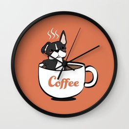 Frenchie, in a Coffee Mug Wall Clock