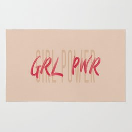 Girl Power GRL PWR - Typography and Lettering Rug