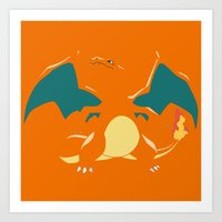 charizard Art Prints featuring Charizard by SEANLAR94