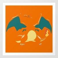 charizard Art Prints featuring Charizard by SEANLAR94