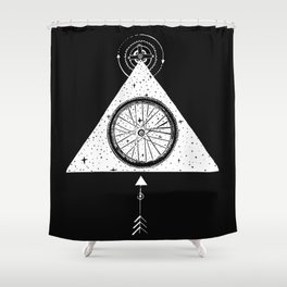 geo bike Shower Curtain