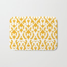 Modern Baroque Yellow Bath Mat