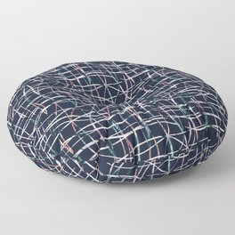 Abstract pattern. Thin vertical, horizontal lines. 2 Floor Pillow