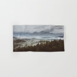 Misty mountains - Landscape and Nature Photography Hand & Bath Towel