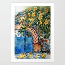 Blue Gate Art Print