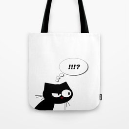 Q the cranky cat  Tote Bag